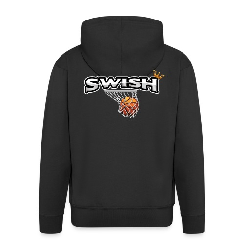 The king of swish - For basketball players - Men's Premium Hooded Jacket