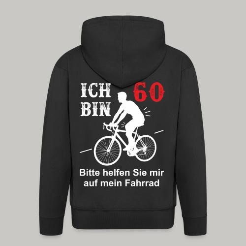 60. Geburtstag Geschenk Mann Fahrrad lustig helfen - Männer Premium Kapuzenjacke