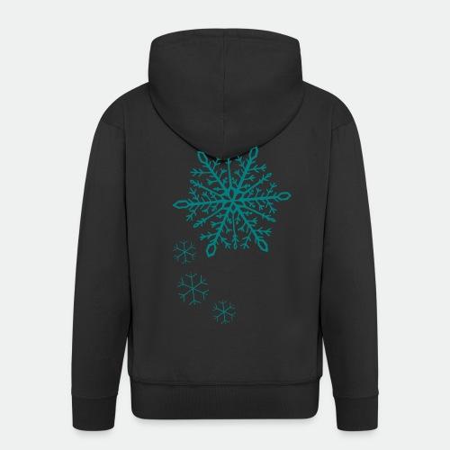 Snowflakes arc - Men's Premium Hooded Jacket