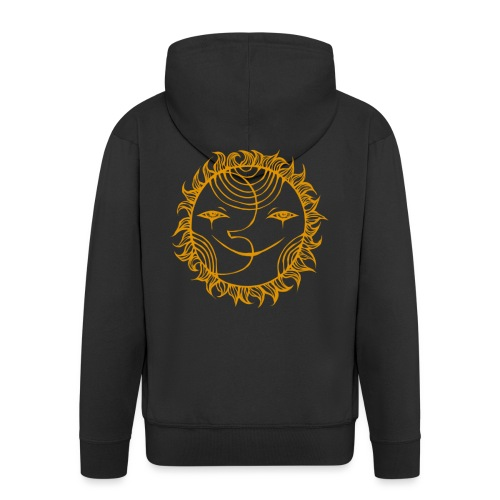 Golden Sunmoon Rising - Men's Premium Hooded Jacket