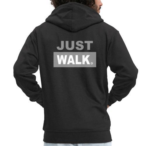JUST WALK mannen grijs - Mannenjack Premium met capuchon