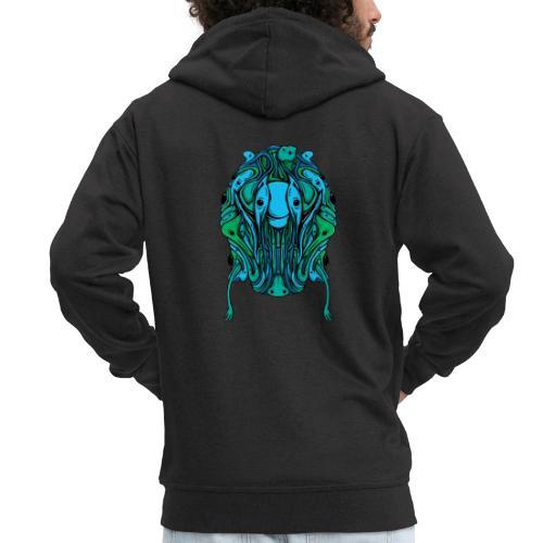 Blobcat Design - Men's Premium Hooded Jacket