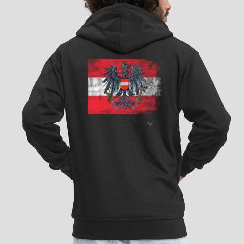 Österreich - Austria Flagge - Männer Premium Kapuzenjacke
