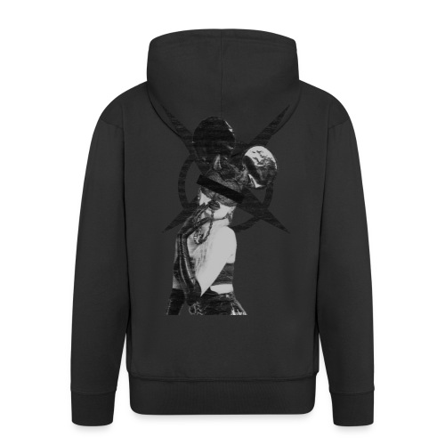 micky devil girl - Men's Premium Hooded Jacket