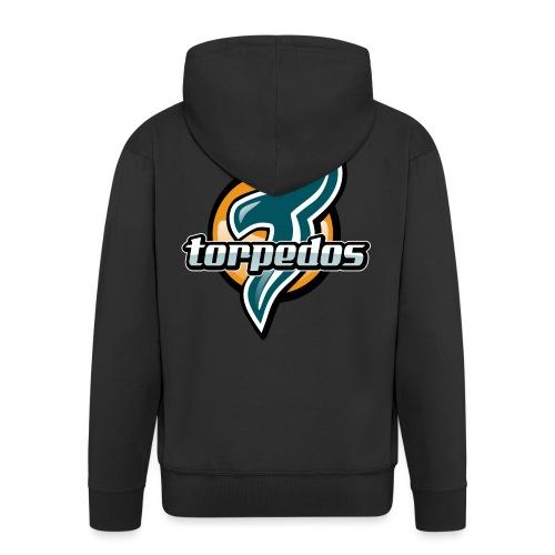 Torpedos logo - Miesten premium vetoketjullinen huppari