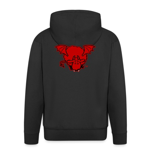 Devil Sheep - Felpa con zip Premium da uomo