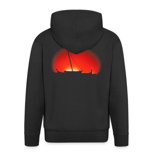Bear Sunset - Men's Premium Hooded Jacket