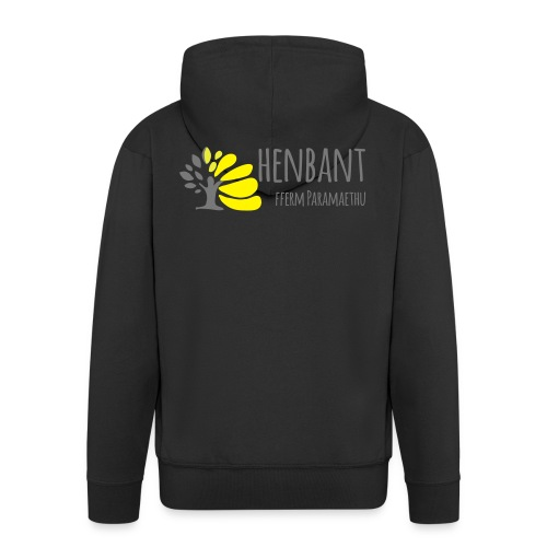 henbant logo - Men's Premium Hooded Jacket