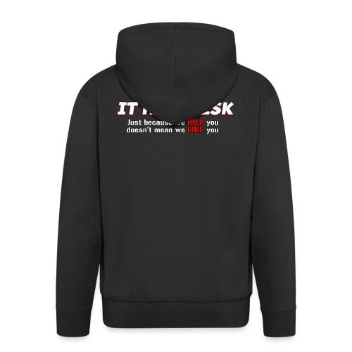 I.T. HelpDesk - Men's Premium Hooded Jacket