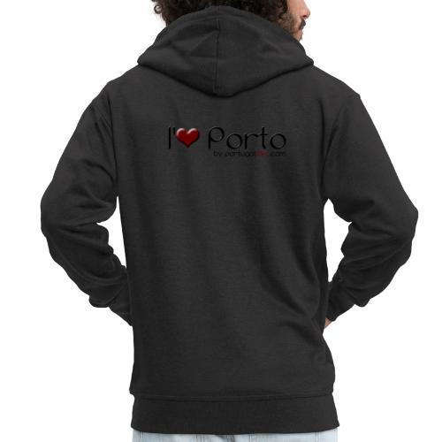 I Love Porto - Veste à capuche Premium Homme