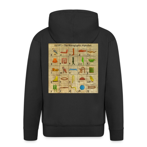 The Hieroglyphic Alphabet - Männer Premium Kapuzenjacke