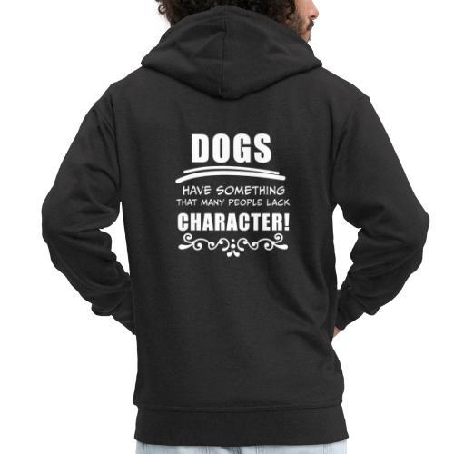 Lustige Sprüche, Geschenk zB Geburtstag, Hund Dog - Männer Premium Kapuzenjacke
