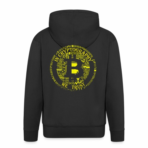 In cryptography we trust 2 - Men's Premium Hooded Jacket