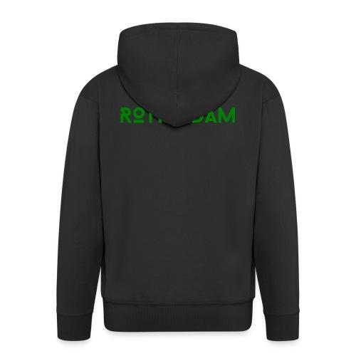 Rotterdam (Groen) - Mannenjack Premium met capuchon