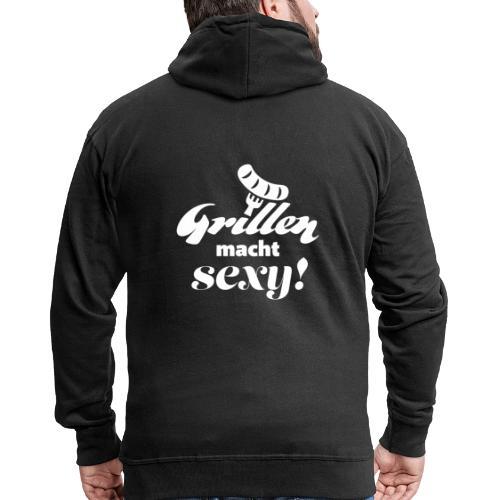 Grillen Geschenk für Männer T-Shirt Schürze - Männer Premium Kapuzenjacke
