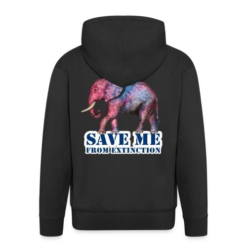 Elefant I SAVE ME - Männer Premium Kapuzenjacke