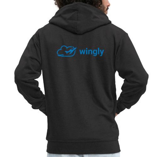 Wingly logo - Men's Premium Hooded Jacket