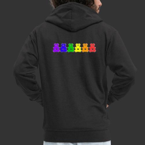 Bärenlust Regenbogen Bären-Reihe - Männer Premium Kapuzenjacke