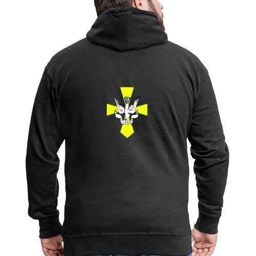 Jda logo - Miesten premium vetoketjullinen huppari