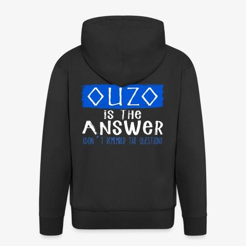 Ouzo is the answer - Männer Premium Kapuzenjacke