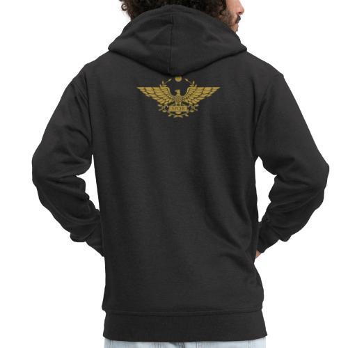 Orzeł SPQR | Eagle of SPQR - Rozpinana bluza męska z kapturem Premium