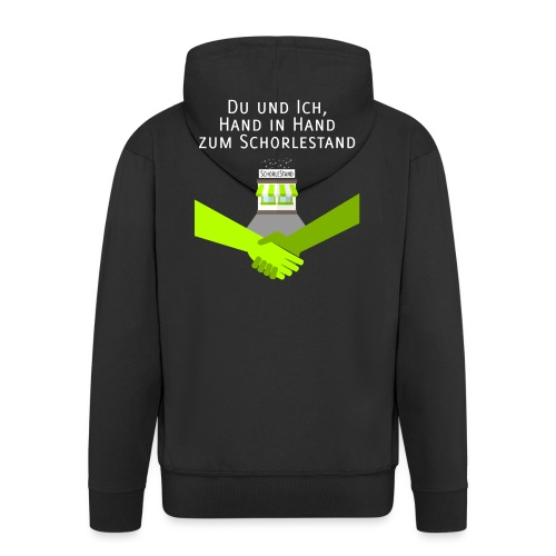 Hand in Hand zum Schorlestand - Männer Premium Kapuzenjacke