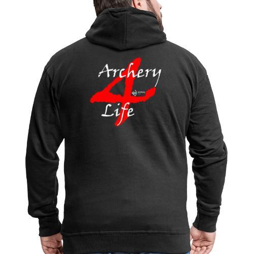 Archery4Life white - Männer Premium Kapuzenjacke