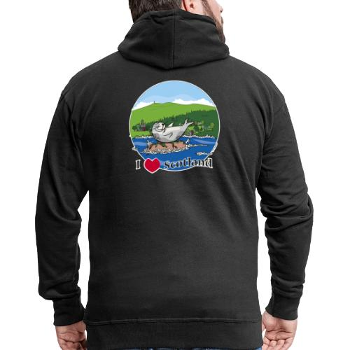 I heart Scotland - Sutherland & Caithness - Men's Premium Hooded Jacket
