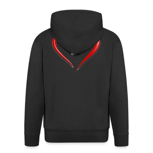 Shirt Herz auf vier Beinen - Männer Premium Kapuzenjacke