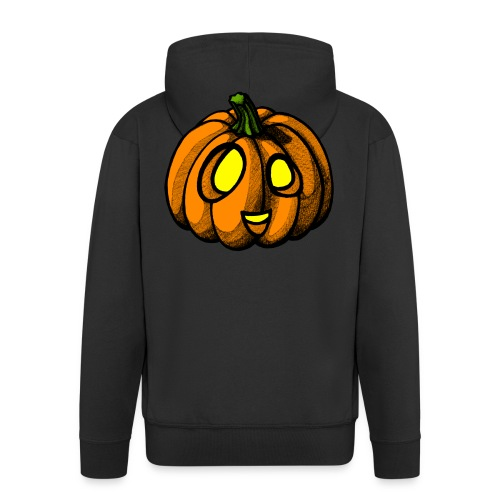 Pumpkin Halloween scribblesirii - Men's Premium Hooded Jacket