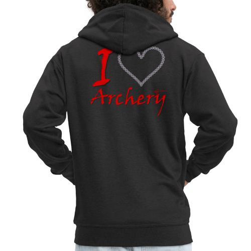 Archery Love - Männer Premium Kapuzenjacke