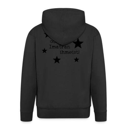 Miekii oon yks Imatran Ihmeist lasten t-paita - Miesten premium vetoketjullinen huppari