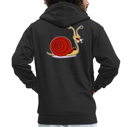 Escargot rigolo red version - Veste à capuche Premium Homme