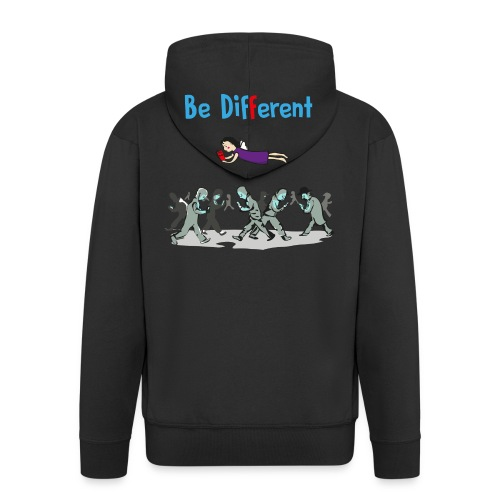 Be Different - read books - Männer Premium Kapuzenjacke