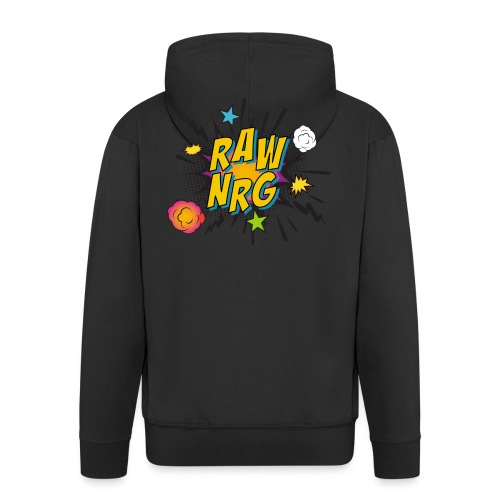 Raw Nrg comic 1 - Men's Premium Hooded Jacket