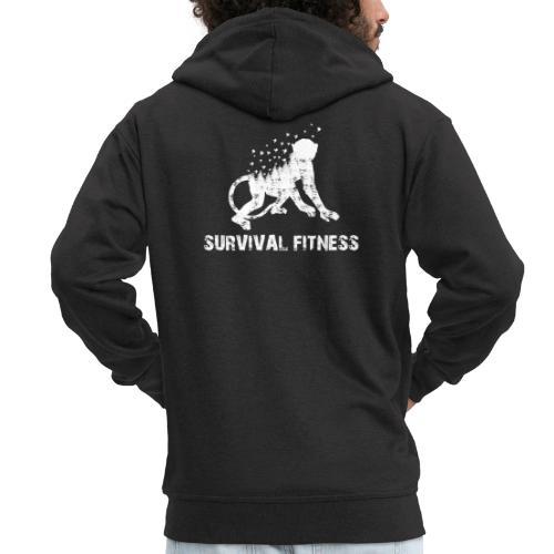 Survival Fitness Weiss - Männer Premium Kapuzenjacke