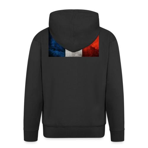 France Flag - Men's Premium Hooded Jacket