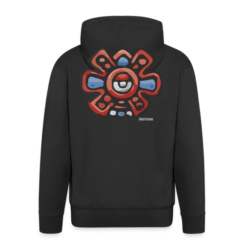 Aztec Motion Earth - Men's Premium Hooded Jacket