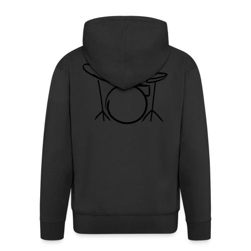 Strich-Männchen Drummer - Männer Premium Kapuzenjacke