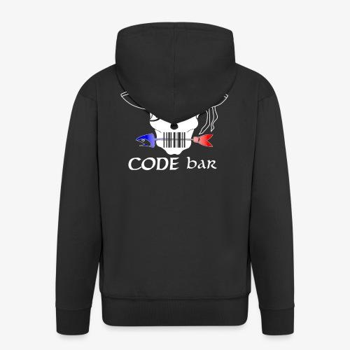 Code Bar white - Veste à capuche Premium Homme