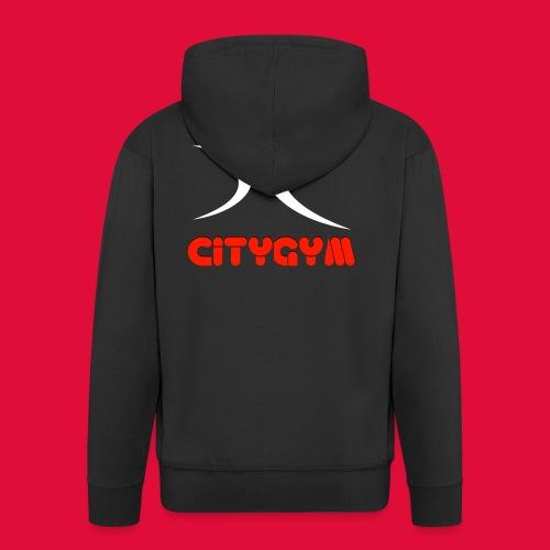 CityGym Guys Pullover - Black - Men's Premium Hooded Jacket