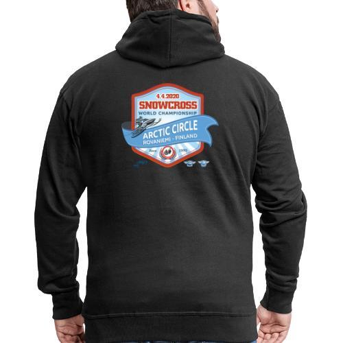 MM Snowcross 2020 virallinen fanituote - Miesten premium vetoketjullinen huppari