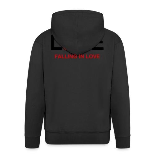 Falling in Love - Black - Men's Premium Hooded Jacket