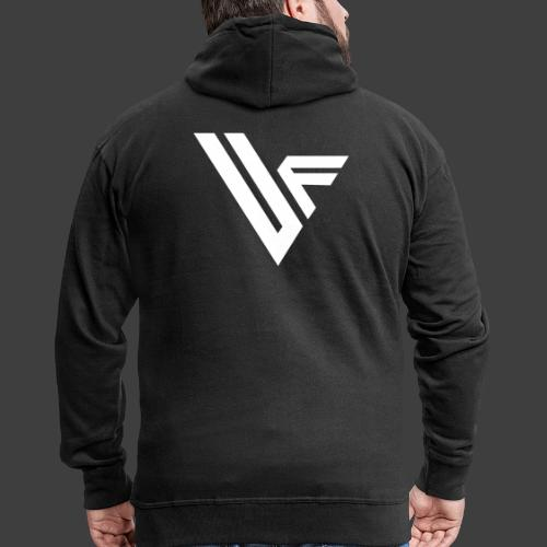 United Front Alternative Logo collection - Miesten premium vetoketjullinen huppari