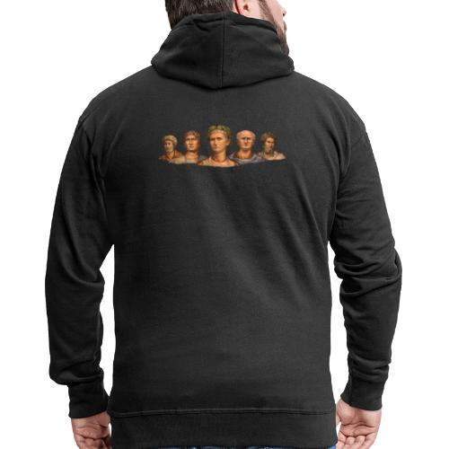 Popiersia cesarskie | Imperial busts - Rozpinana bluza męska z kapturem Premium