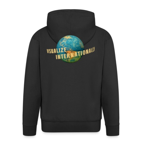 Visualize Internationally Shirt - Men's Premium Hooded Jacket