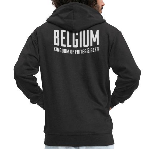 Belgium kingdom of frites & beer - Veste à capuche Premium Homme