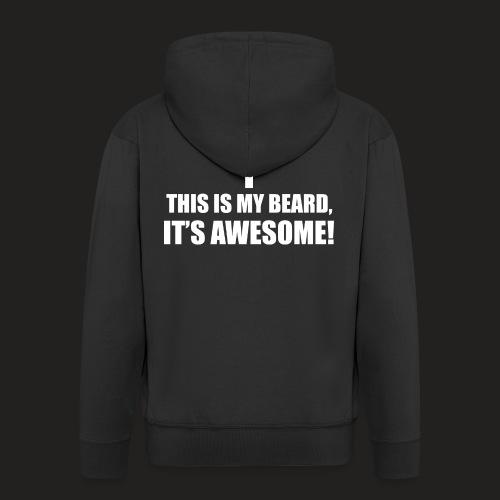 MY BEARD.png - Men's Premium Hooded Jacket