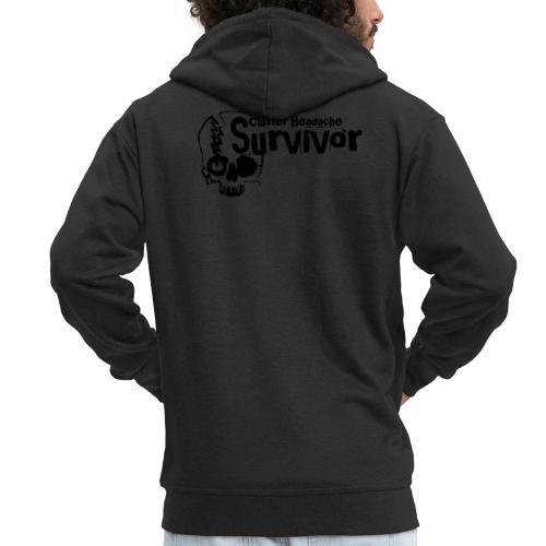 Cluster Headache Survivor - Männer Premium Kapuzenjacke