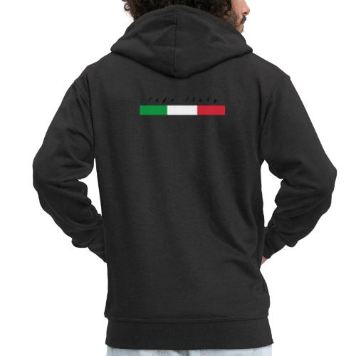 Info Italy Design - Felpa con zip Premium da uomo